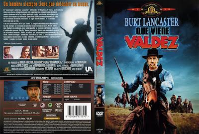 Que viene Valdez   1971   Valdez Is Coming: Carátula, cover, dvd