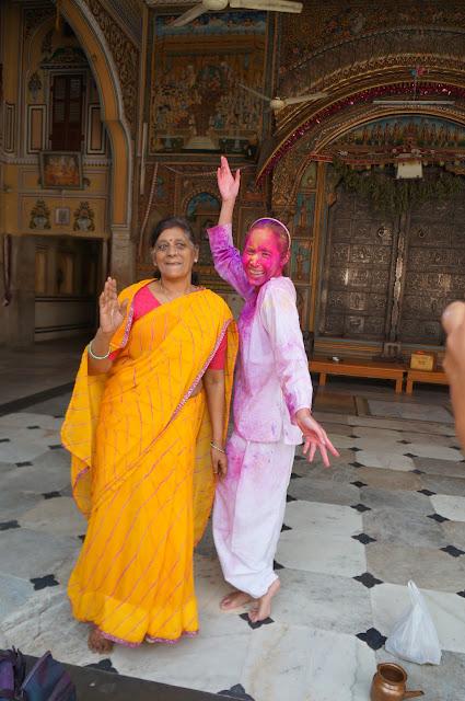 Savika di Festival Holi di Jaipur, India