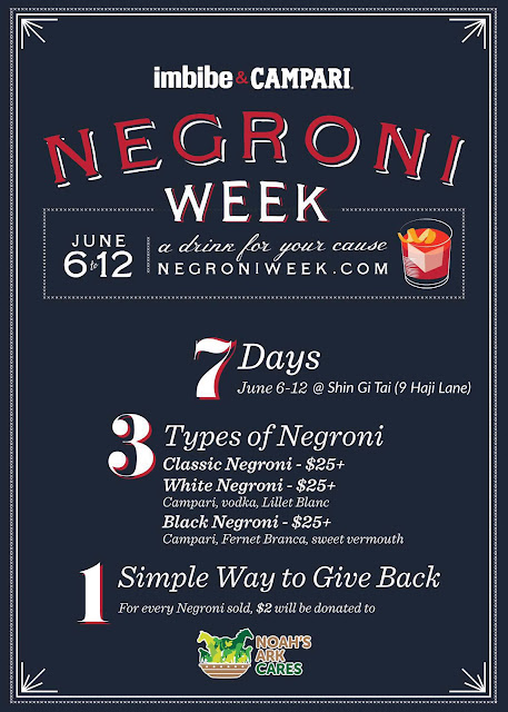 Negroni Week At Shin Gi Tai From 06-12 June 2016!