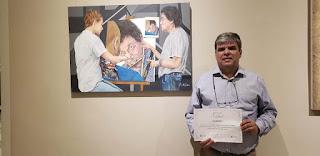 Artista plástico da SOARTE ,Renato Cardoso, recebe prêmio do concurso Cesgranrio