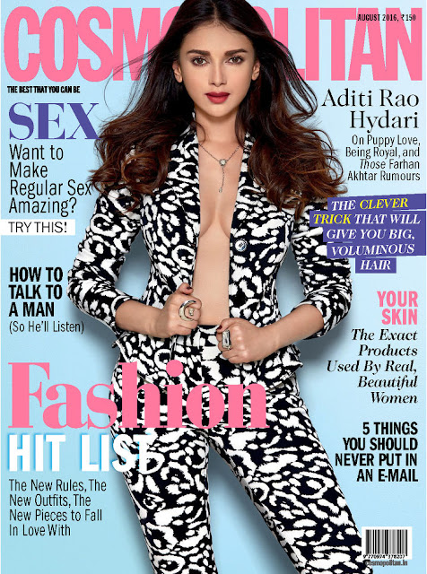Actress, @ Aditi Rao Hydari - Cosmopolitan India, August 2016