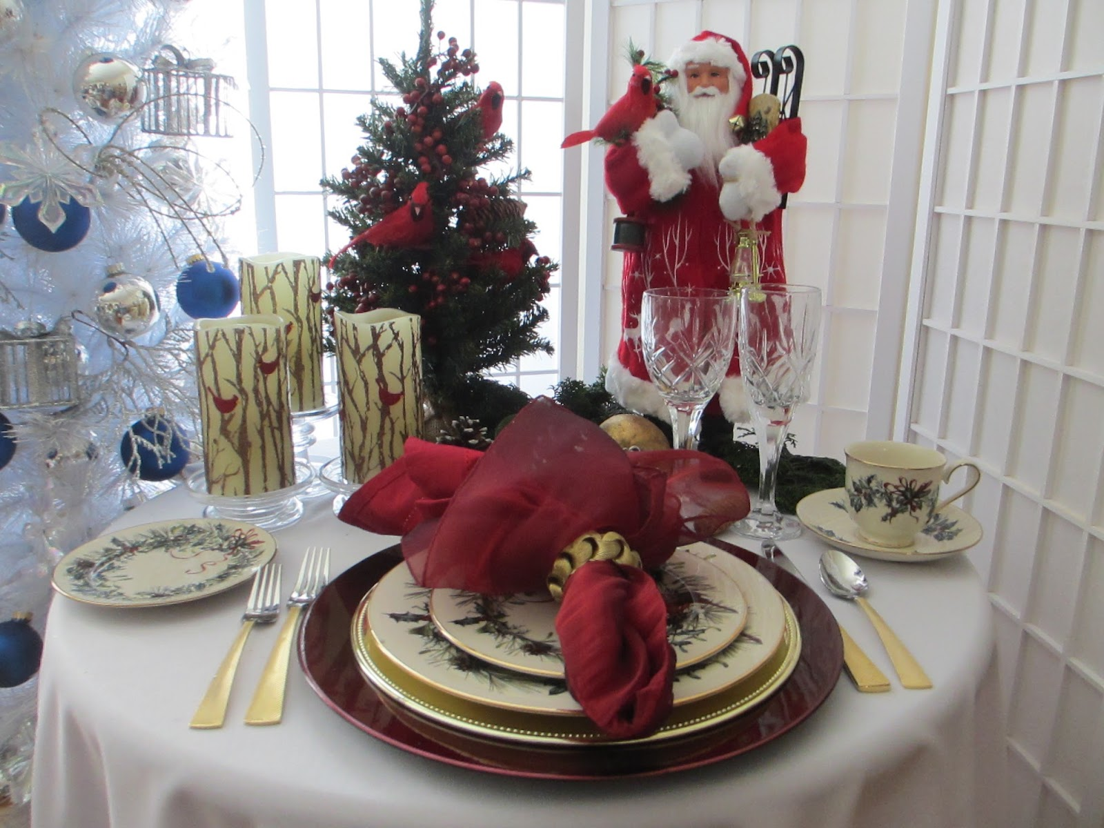 Table For One Santa And Lenox Winter Greetings