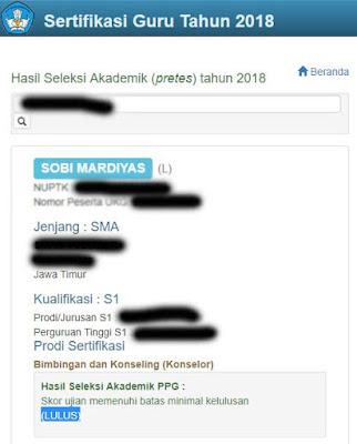 telah resmi dikeluarkan oleh panitia seleksi PPG  Pengumuman Hasil Pretes PPG 2018 Gelombang 2