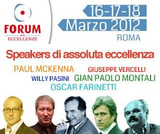 Forum delle Eccellenze 2012: comunicazione di servizio