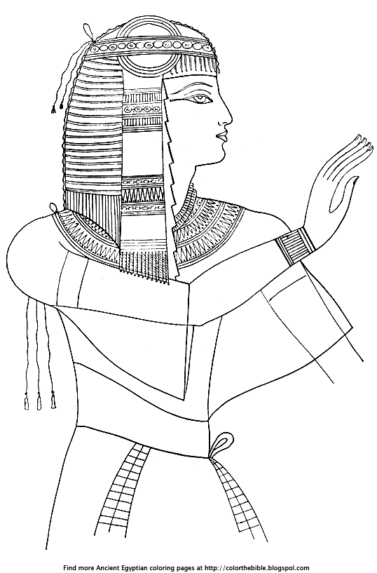 Here Is An Ancient Egyptian Princess For You To Color Color The Bible