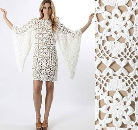 Patrón 958 Vestido a Crochet