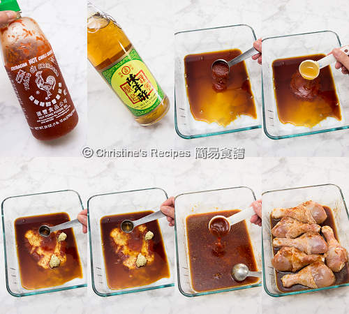 焗是拉差蜜糖雞腿 Baked Sriracha Honey Chicken Drumsticks Procedures