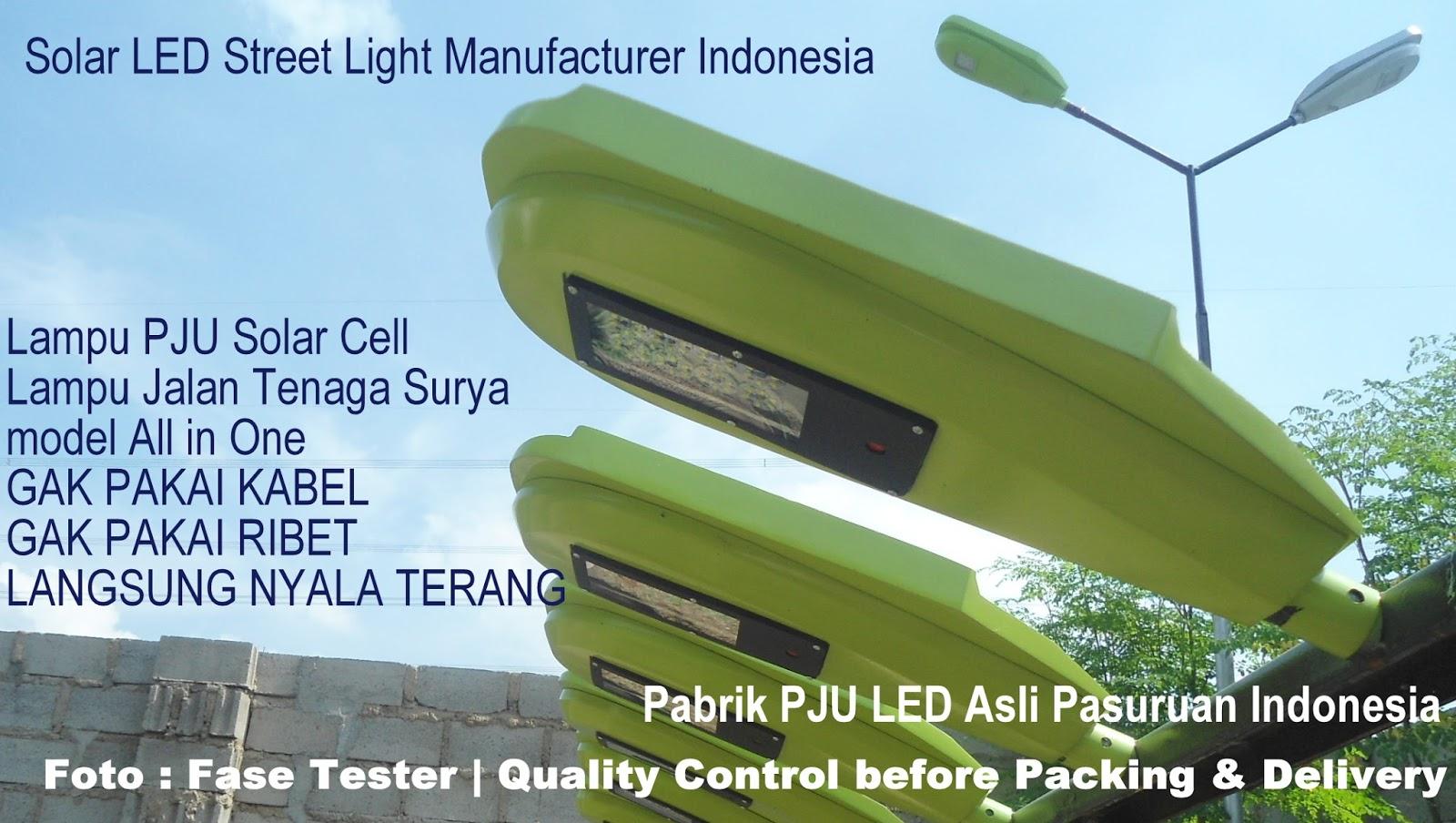 Harga Pju Led Solar Cell Power Panel Indonesia Lampu Pju