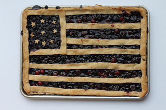 Cherry and Blueberry Slab Pie