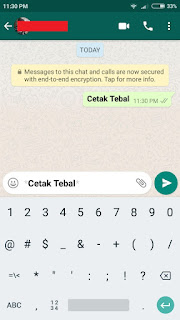 Cetak Tebal (Bold)