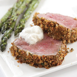 Beef Tenderloin with a Horseradish and Panko Crust