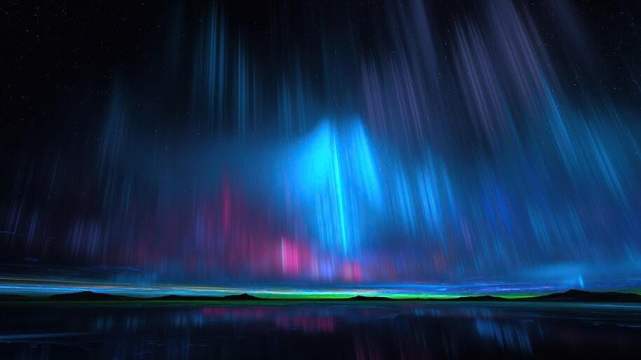 Northern Lights, Aurora Borealis, Night, Sky, Scenery, 4K, #6.438