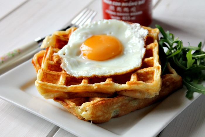 Ham and Cheese Stuffed Waffles