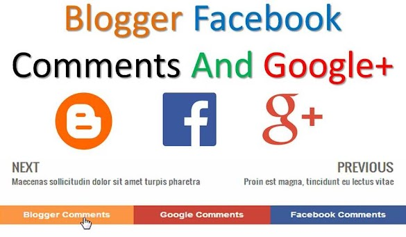 Show Hide Blogger Facebook Comments And Google+ On Blog