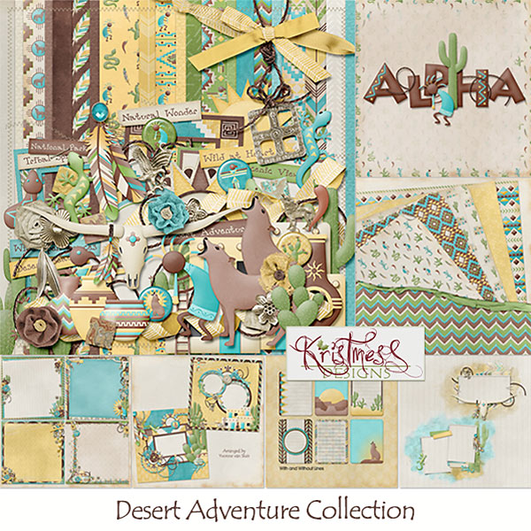 This fun collection is full of unique elements and papers great for a multitude of pages from SouthWest to Native and much more.