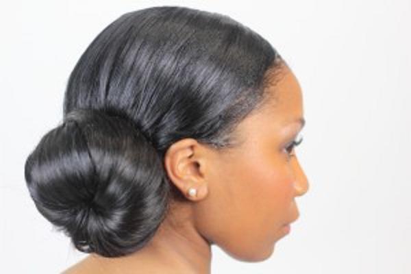 African American Wedding Hairstyles & Hairdos: Ballerina Bun