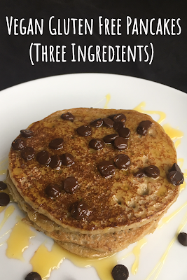 Vegan Gluten Free Pancakes (Three Ingredients)