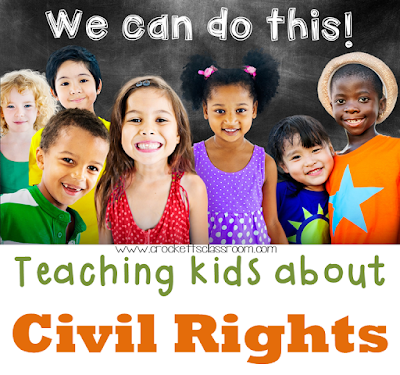 A collection of ideas and activities to teach students about civil rights.