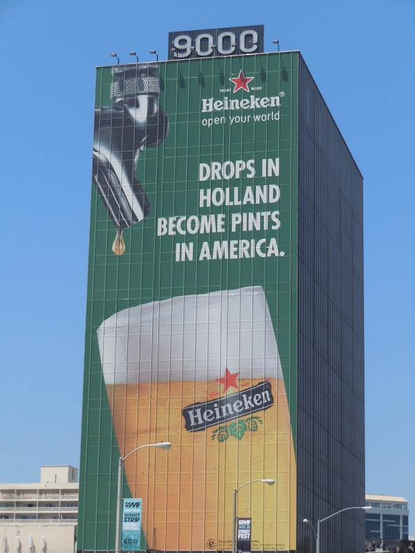 Giant Heineken beer billboard