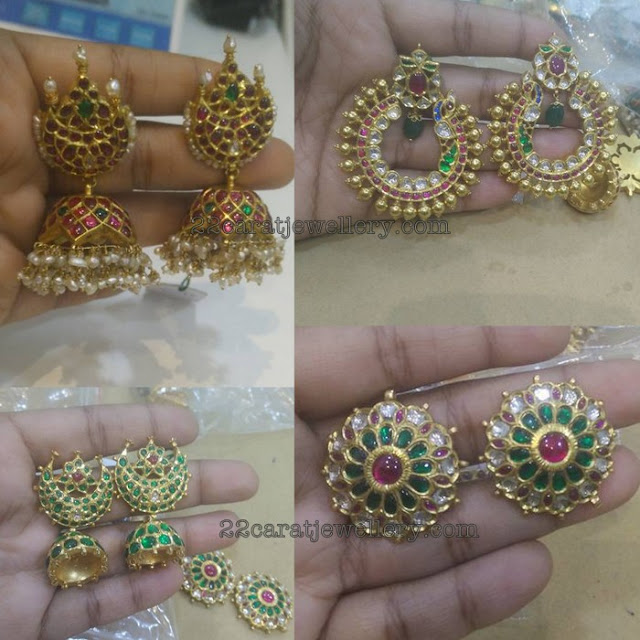 Traditional Style Kundan Earrings