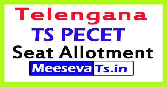 TS PECET Seat Allotment 2017