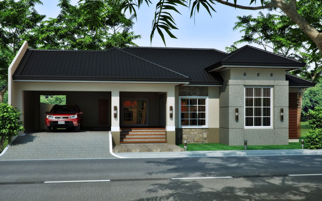 Medium size house for the medium size family bahay ofw for Small modern bungalow house design