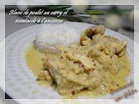 Blanc de poulet curry moutarde, recette Monsieur Cuisine