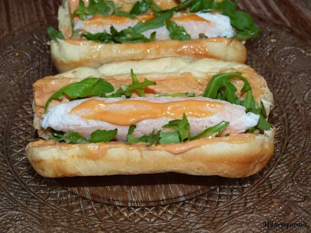 Hot dog de crevettes