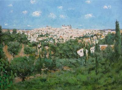 cuadro al oleo de Toledo