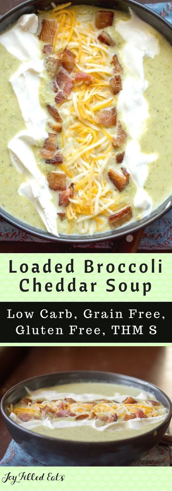 Low Carb Broccoli Cheese Soup with Bacon