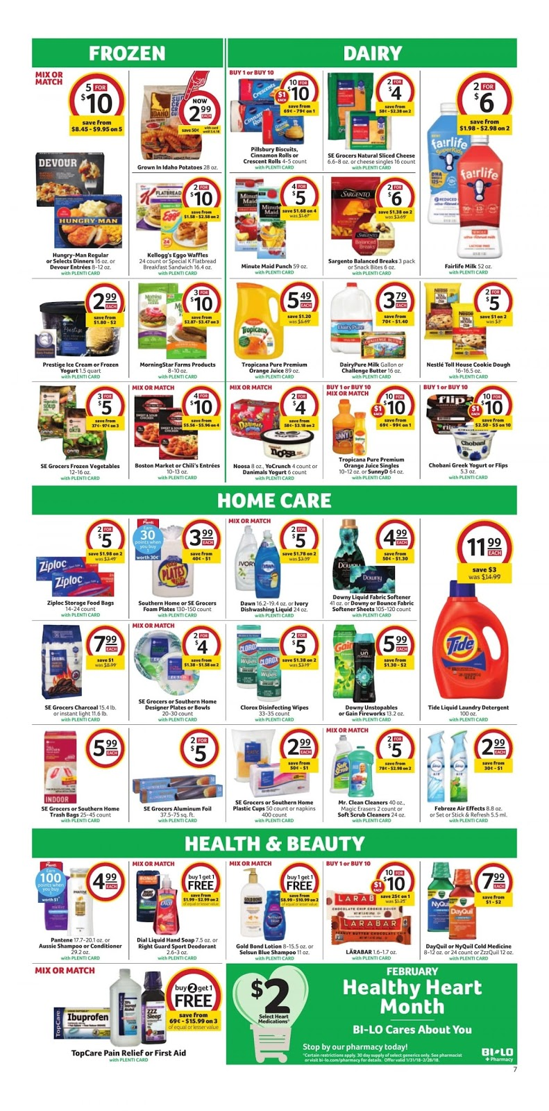 Bilo Weekly Ad February 14 20 2018 Amazing Deals 2k