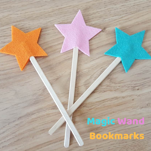 DIY magic wand bookmarks
