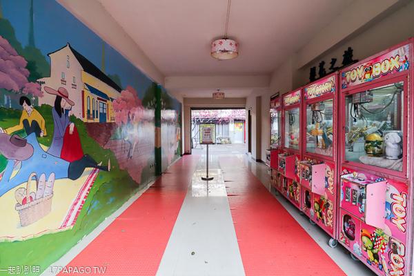 苗栗三義藝術村櫻花渡假會館,櫻花步道愜意賞櫻,三義木雕街旁