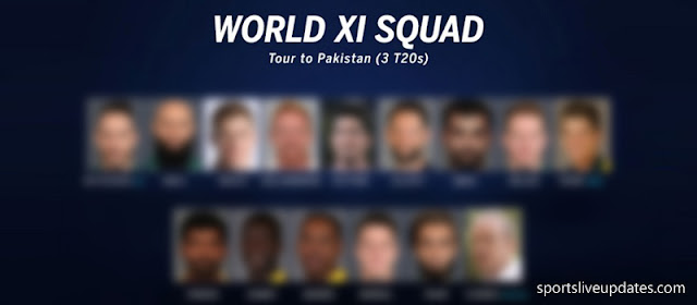 World XI Squad for Pakistan Tour