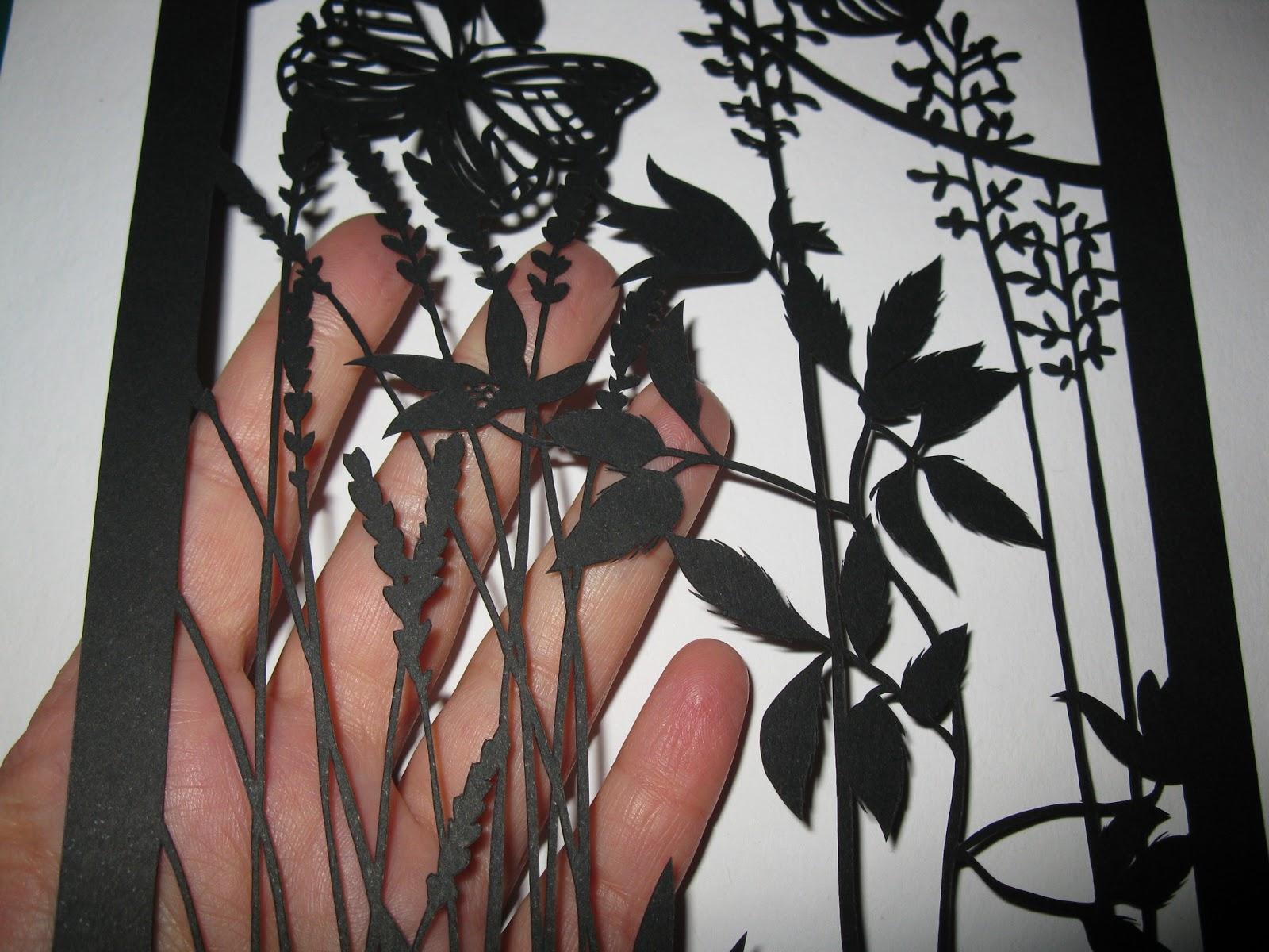 mon univers de papier petit tableau en papier d coup sc ne printani re. Black Bedroom Furniture Sets. Home Design Ideas