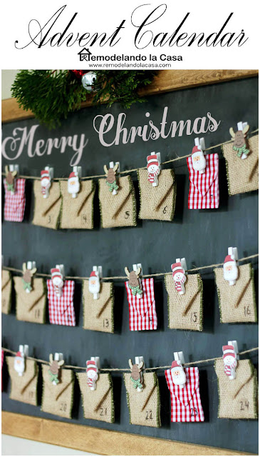 Chalkboard Advent Calendar - Merry Christmas