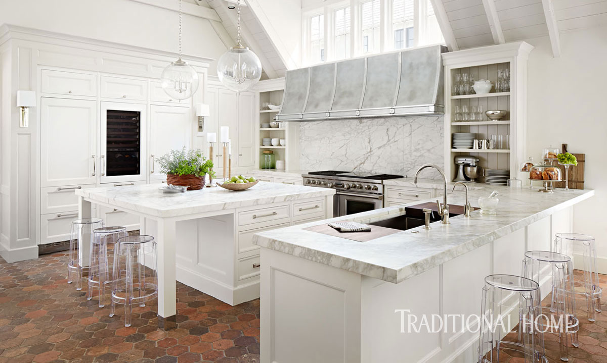 vignette design: terra cotta floors in the kitchen