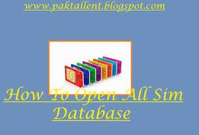 How To Open All Sim DataBase, All sim database, Check detail of any mobile number. check call history, check SMS history, Data of Mobile Numbers.