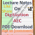 Lecture Notes on Digitization - AEC PDF Download