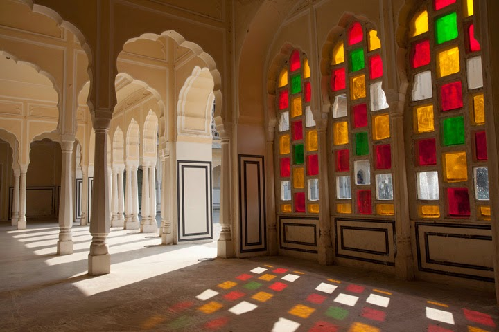 Colored glass  - Hawa Mahal - Jaipur Pink City - Rajasthan