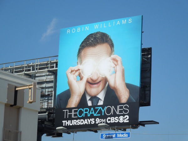 Robin Williams The Crazy Ones series premiere billboard
