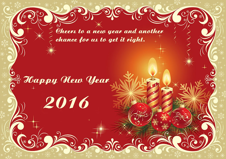 Happy New Year Best Greetings Card 2016