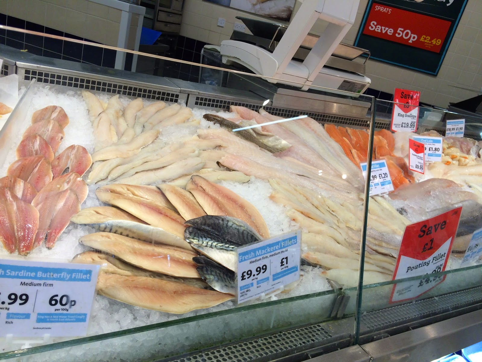 fish counter at Morrisons