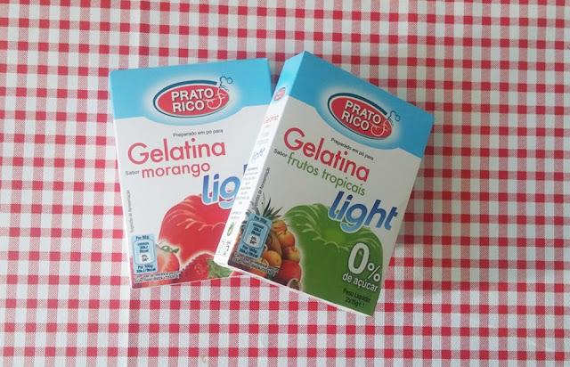 Gelatina light 0% de açúcar, Prato Rico.