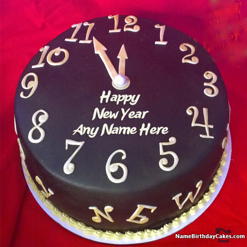 happy new year cake with name