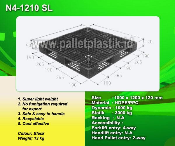 Jual Pallet Plastik Tipe N4 - 1210 SL