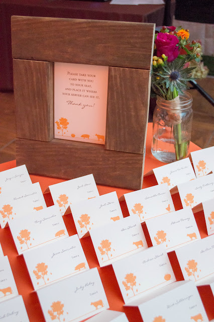 Escort cards by TextStyle Designs