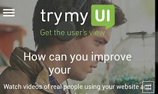 "TriMyUI"" Website App Using Feedback at Earning"