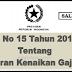 Info PP No 15 Tahun 2019 Tentang Kenaikan Gajih PNS
