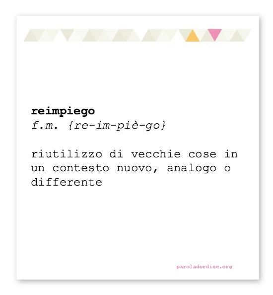 paroladordine-lasignorinaOdice-reimpiego